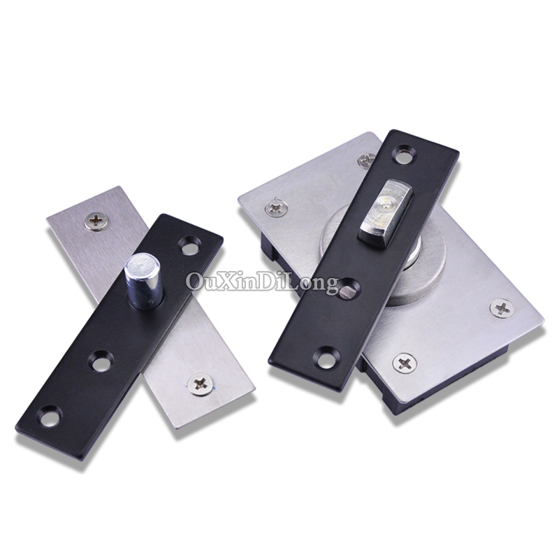 High Quality 10Set Stainless Steel Heavy Duty Hidden Door Pivot Hinges 360 Degree Rotation Up & Down Hinges Furniture Hardware 1 pair viborg sus304 stainless steel heavy duty self closing invisible spring closer door hinge invisible hinges jv4 gs58b