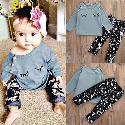 autumn spring fall new infant toddler baby girls smile long sleeve t shirt  pants 2pcs suit newborn boy girl clothing set free shipping children clothing spring girl three dimensional embroidery 100% cotton suit long sleeve t shirt pants