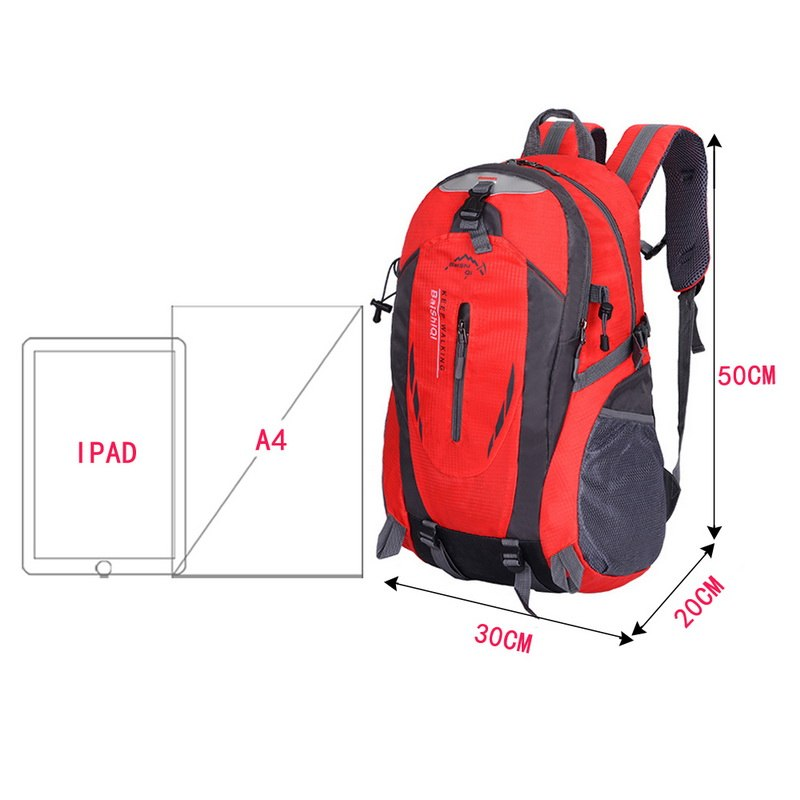 40L 6 colors Outdoor Sports Mountaineering Backpack Camping Hiking Trekking Rucksack Travel Waterproof Cover Bike Bags jooyoo