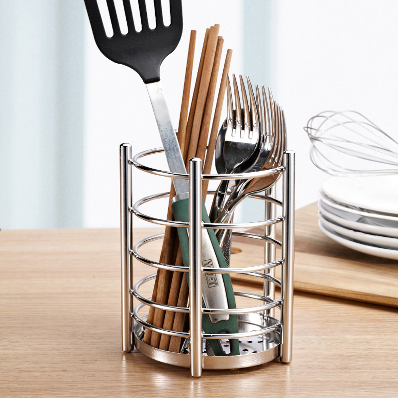 Kitchen Utensil Holder,Caddy Cutlery Storage Caddy,18/10 Stainless Steel  Cooking Tool