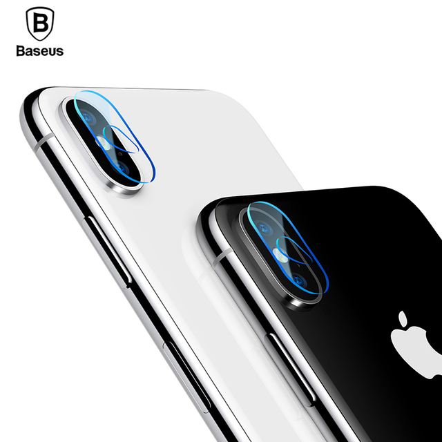 finest selection a774b 477b8 US $3.69 40% OFF|Baseus Camera Lens Tempered Glass Film For iPhone X 10  Transparent Full Cover Cell Phone Lens Screen Protector Film For iPhoneX-in  ...