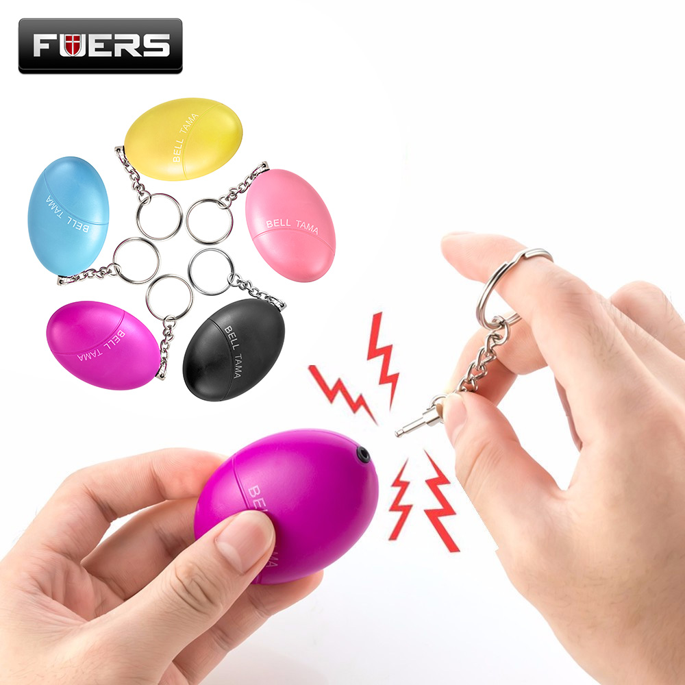 Portable Defense Personal Alarm Girl Women Anti-Attack Security Protect Alert Emergency Safety Mini Loud Keychain Alarm high quality mini personal portable guard safety security egg alarm keychain 3 colors hot sale waterproof