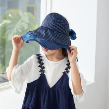Girls  Casual Print Visor Hat Cotton Wide Brim Floppy Beach Womens Hats Fashionable