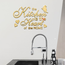 Diy Creative Personality English Letter Wall Stickers Decorative Mirror Stickers Environmentally Material Mirror Stickers