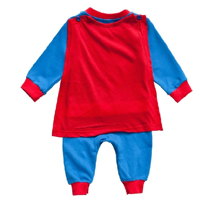 Baby Boy Romper Superman Long Sleeve with Smock Halloween Christmas Costume Gift Boys Rompers Spring Autumn Clothing  1