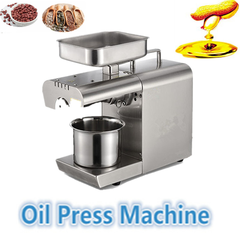 high oil extraction hot and cold home oil press machine peanut seed soybean oil press machine high quality best price cold press oil seed extracting machine