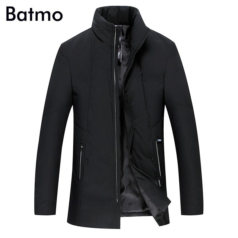 Batmo 2017 new arrival winter high quality 80% white duck down black jacket men,winter mens thick coat,plus-size 1758