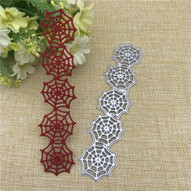 <font><b>Halloween</b></font> Spider Web Lace Border Edge Metal Cutting <font><b>Dies</b></font> Stencils For Card Making Decorative Embossing Suit Paper Cards <font><b>Stamp</b></font> image