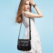 Aosbos sac à main lavé en cuir PU souple pour femmes, petite sacoche à épaule Vintage de styliste, 2019