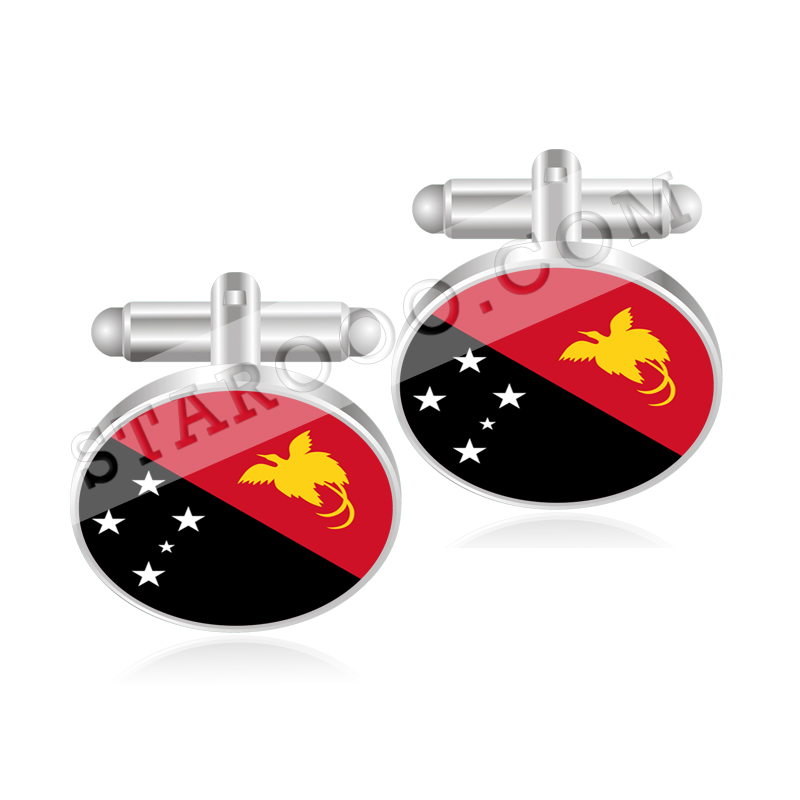 2019 Fashion Papua New Guinea Paraguay Peru Philippines Pitcairn Islands Poland Flag Cufflinks Outstanding Features