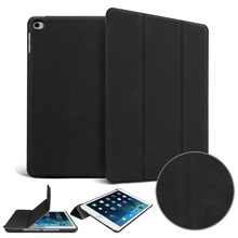 Matte PU high quality deer leather case For Apple iPad Air 2 A1566`A1567 Original 1:1 protective Smart sleep wake up