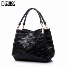 2017 Alligator Leather Women Handbag Bolsas De Couro Fashion Famous Brands Shoulder Bag Black Bag Ladies Bolsas Femininas Sac