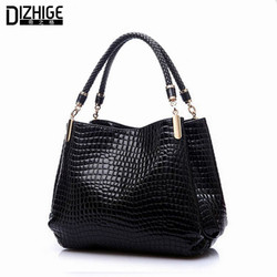 2015 alligator leather women handbag bolsas de couro fashion famous brands shoulder bag black bag ladies.jpg 250x250