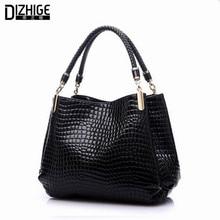 2015 Alligator Leather Women Handbag Bolsas De Couro Fashion Famous Brands Shoulder Bag Black Bag Ladies Bolsas Femininas Sac