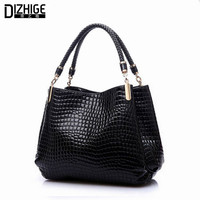 2015 Alligator Pu Leather Women Bolsas De Couro Fashion Sequined Shoulder Bag Zipper Ladies Handbags Bolsas