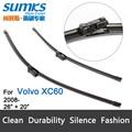 """Cuchilla de limpieza para Volvo XC60 (Desde 2008 en adelante) 26 """"+ 20"""" fit botón tipo de limpiaparabrisas armas sólo HY-011"""