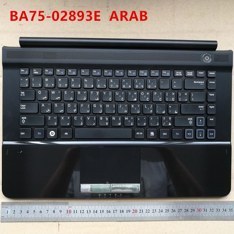 Arab layout new laptop keyboard with touchpad palmrest for Samsung RC410 RC420 RC411 AR BA75-02893E