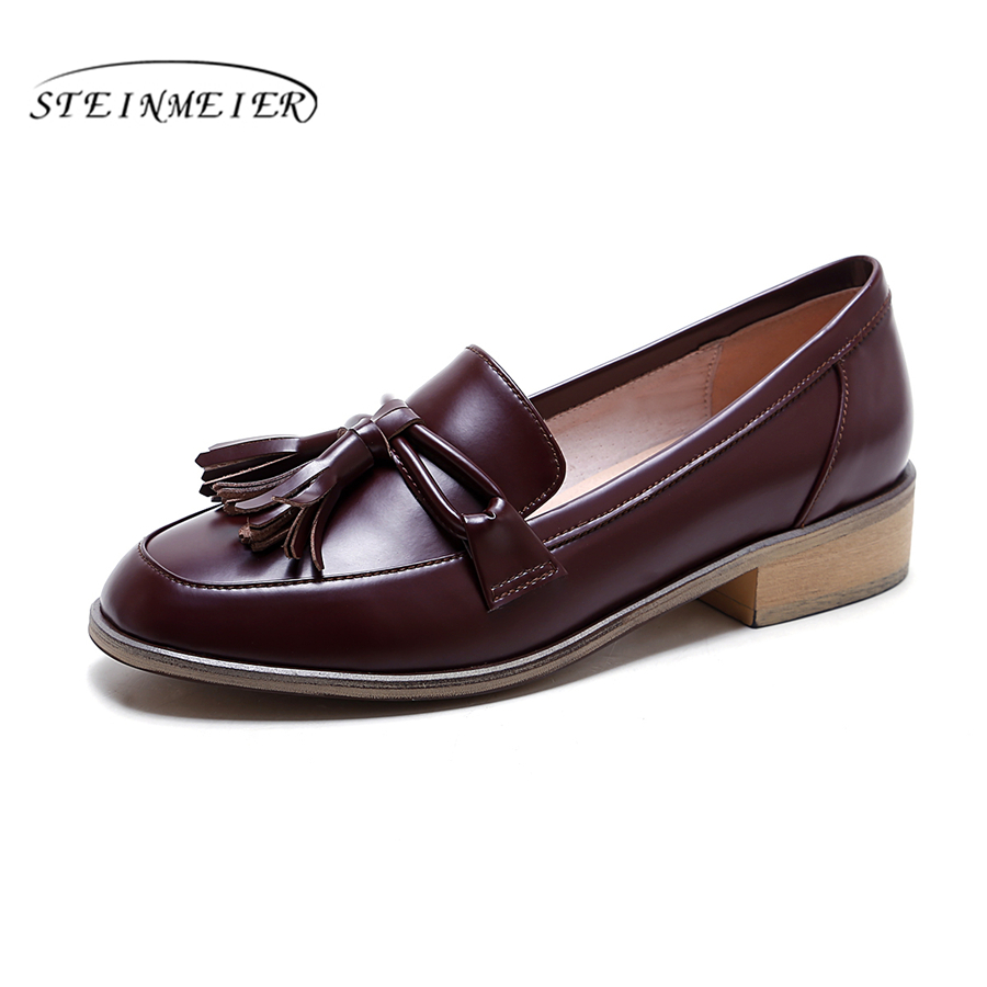 Genuine leather designer vintage flat shoes round toe handmade red oxford shoes for women 2018 casual shoes hot sale mens italian style flat shoes genuine leather handmade men casual flats top quality oxford shoes men leather shoes