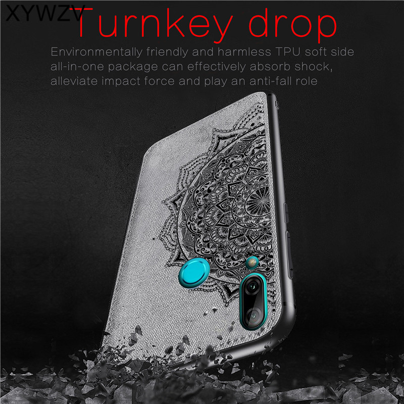 Image 2 - For Huawei Y7 2019 Shockproof Soft TPU Silicone Cloth Texture Hard PC Phone Case For Huawei Y7 2019 Back Cover Huawei Y7 2019-in Fitted Cases from Cellphones & Telecommunications