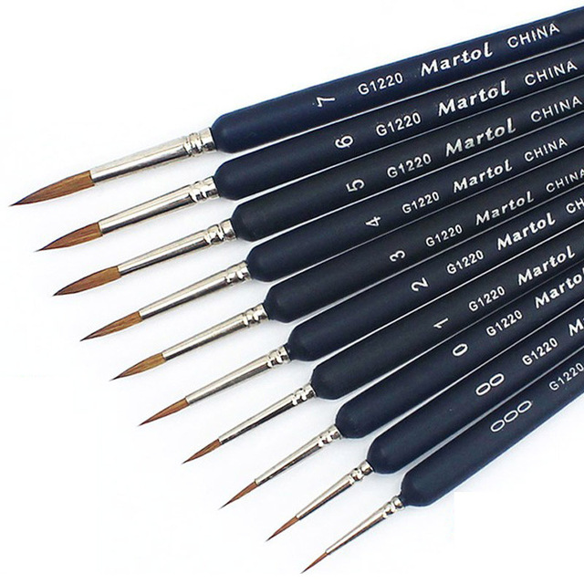 1 Piece Paint Brush Miniature Detail Fineliner Nail Art Drawing Brushes Wolf Half Paint Brushes For Acrylic Painting Supplies 1