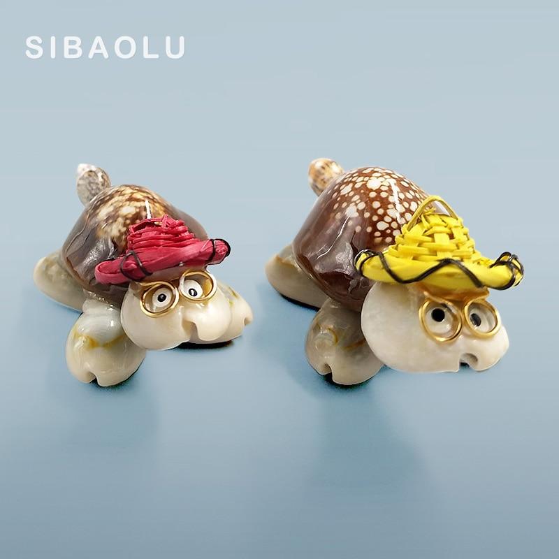 Tiny Ceramic Cute Yellow Turtle FIGURINE Home Decor Aquarium MINIATURE Bonsai