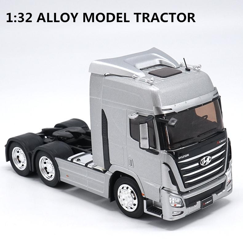 Original 1:32 scale alloy tractor, high simulation HYUNDAI TRAGO, metal casting,collection model vehicle, free shippingOriginal 1:32 scale alloy tractor, high simulation HYUNDAI TRAGO, metal casting,collection model vehicle, free shipping