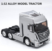 Original 1:32 scale alloy tractor, high simulation HYUNDAI TRAGO, metal casting,collection model vehicle, free shipping(China)