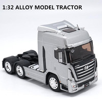 Original 1:32 scale alloy tractor, high simulation HYUNDAI TRAGO, metal casting,collection model vehicle, free shipping