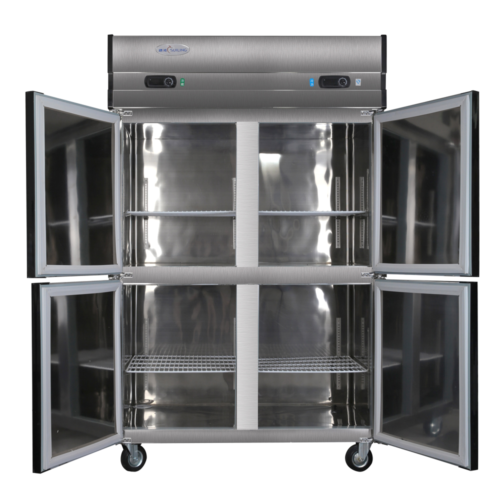 1000L 4 Door Restaurant Kitchen Stainless Steel Commercial Upright  Refrigerator Top Freezer Reach In Cabinet Cooler Fridge 35 Cf In Freezers  From Home ...