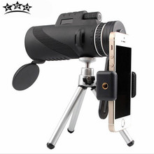 CSO 40X60 Monocular All Optical HD No Infrared Teleskop Monoculo with Lens Caps Tripod Universal Camera Adapter Hunting Outdoor