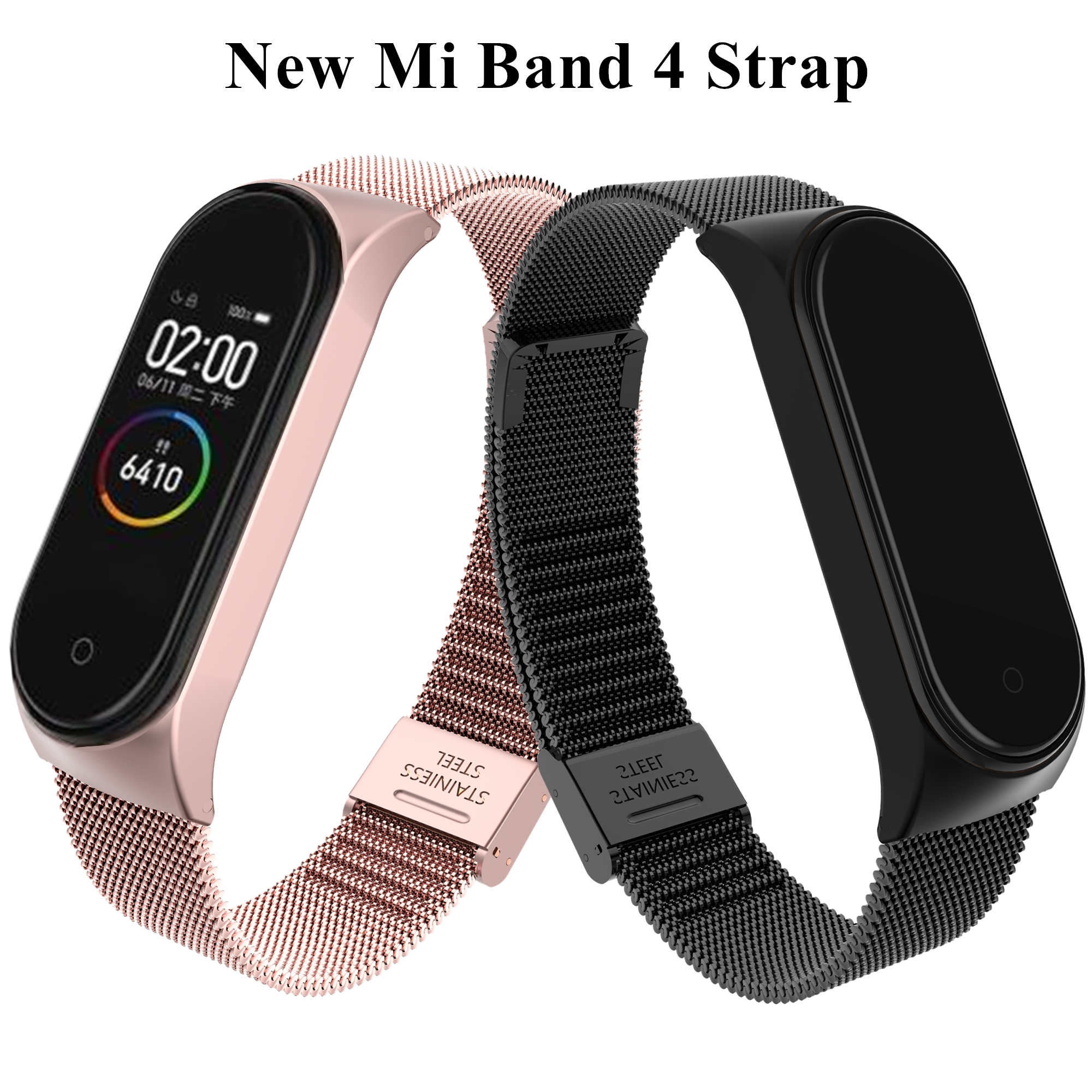 Bracelet Mi-Band 4-Wrist-Strap Stainless-Steel Metal Pulseira Xiaomi Screwless for 4-strap/Miband/4-wristbands/..