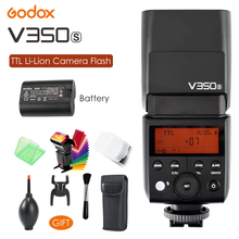 Godox V350S Flash TTL GN36 1/8000s HSS 2.4G Wireless X System Li- battery Camera Flash Speedlite for Sony DSLR Camera + Gift