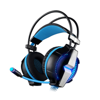 EACH G7000 Gaming Headphone 7 1 Virtual Surround Sound Over Ear Retractable Headset LED Vibration Effect