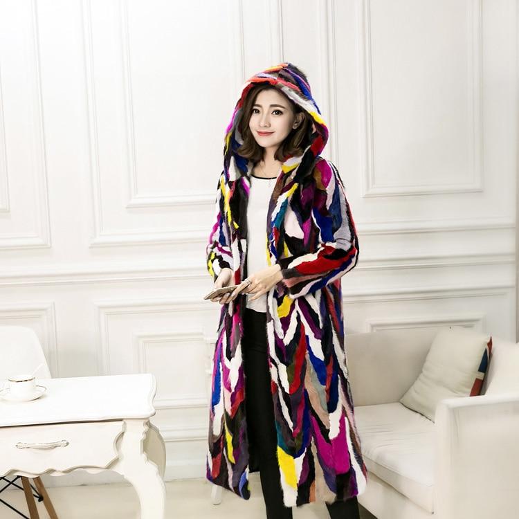 Long Fourrures Fei Manteau 6xl Hooded Pardessus Hooded Véritable Yin Femmes Naturel Cm Survêtement Vestes De no Fourrure Vison 110 Réel d6qqI7