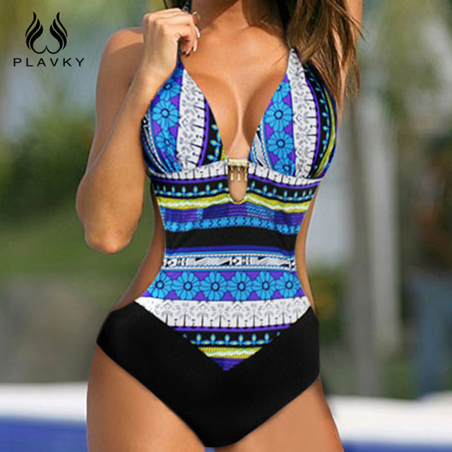 Sexy Lady Monokini Brazilian Tanga Halter Beachwear Bathing Suit Large Plus Size Push Up Swimwear Women One Piece Swimsuit