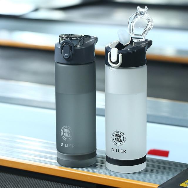 Plastic Sport Water Bottle With Straw Leakproof Water Bottle Portable Scrub Space Cup Tritan BPA Free 1