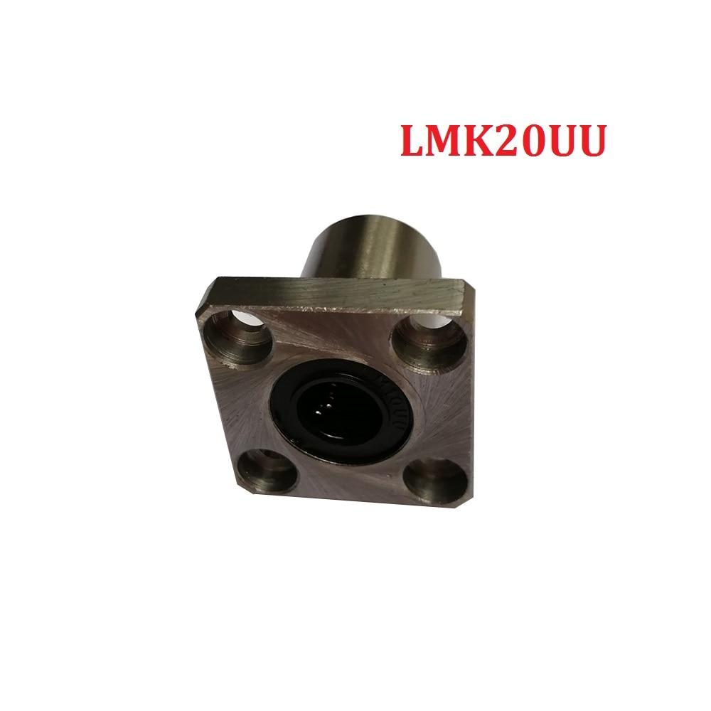 Confezione da 1 PZ 20mm Quadrata LMK20UU Flangia Tipo di Cuscinetto Lineare Per Stampante 3d ParteConfezione da 1 PZ 20mm Quadrata LMK20UU Flangia Tipo di Cuscinetto Lineare Per Stampante 3d Parte