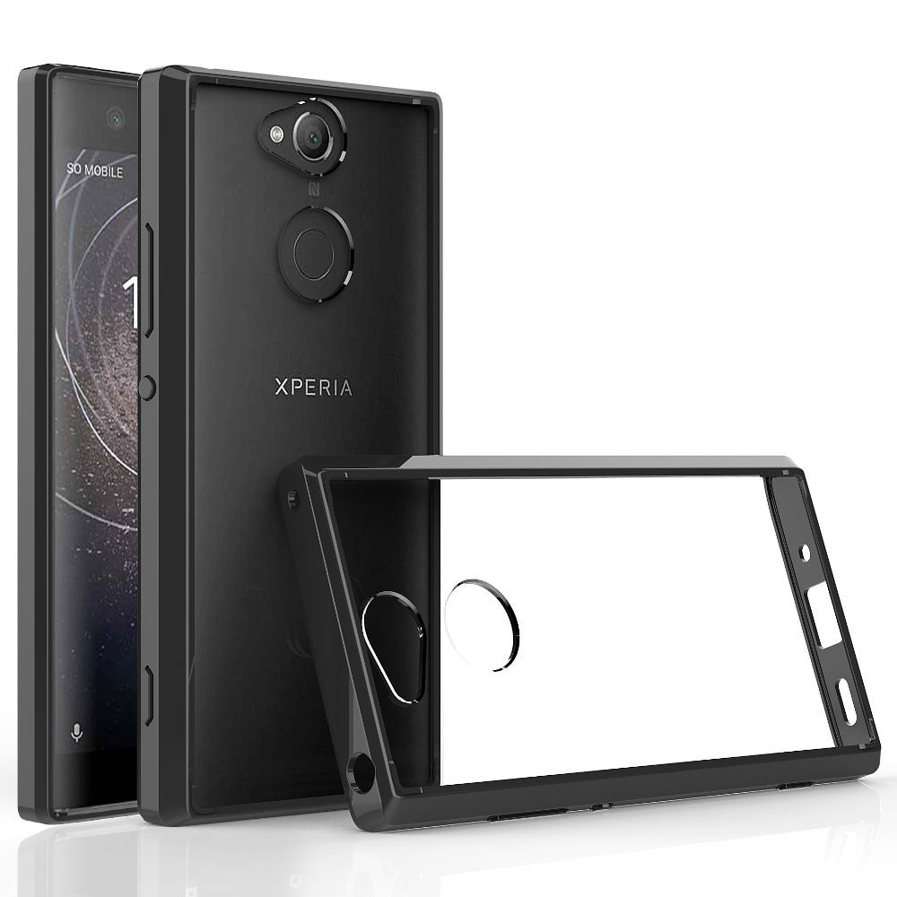 For Sony Xperia XA2/XA2 Ultra Slim Fit TPU & Hard Back Clear Case Anti Scratch Transparent Cover For Sony Xperia XA2 / XA2 Ultra