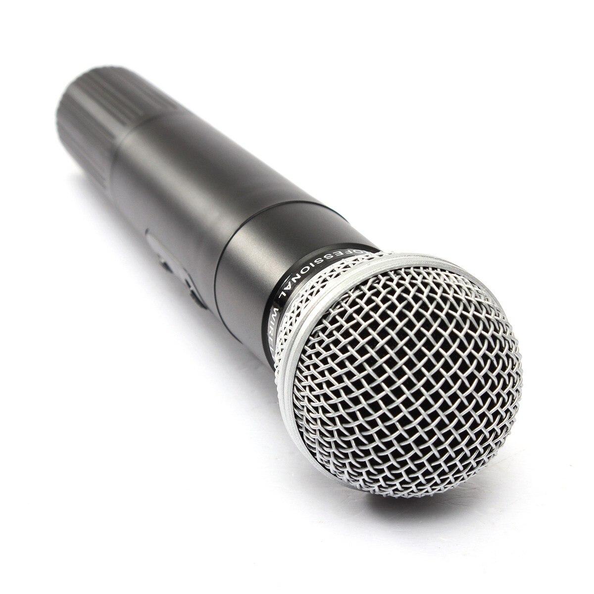 LEORY système de Microphone sans fil karaoké professionnel avec connecteur et récepteur Microphone à condensateur double micro pour le chant KTV - 3