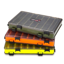 Fishing Lure Box Double Sided Tackle 27.5*185*5 Accessories Minnows Bait Container New PP Material