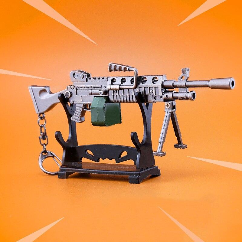 Quindici giorni Battle Royale Accessori Arms Light Machine Gun Keychain Del Pendente Del Metallo Della Lega Giocattolo Fort di Notte Per Il Regalo Dei Bambini
