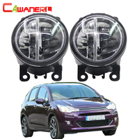 Cawanerl For Citroen C3 FC_ Hatchback 2005 2010 2 X Car LED Fog Light 4000LM 6000K White 12V Daytime Running Lamp DRL Styling