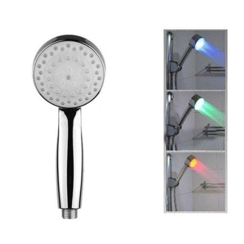 high quality uk led colour changing shower head bathroom mixer water faucet overhead lightchina cheap bathroom lighting