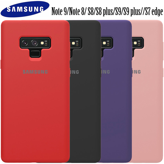 huge discount 6a18c 07104 US $16.48 |Samsung Galaxy Note 9 case original Samsung Galaxy Note 8 S8 S8  plus S9 S9 plus S7 edge liquid silicon back phone case Note9-in ...