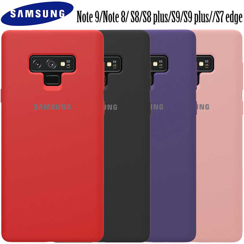 check out d1e98 73c54 Samsung Galaxy Note 9 case original Samsung Galaxy Note 8 S8 S8 plus S9 S9  plus S7 edge liquid silicon back phone case Note9