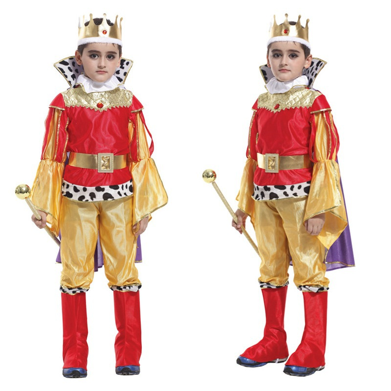 Shanghai Story children king cosplay costume christma halloween Prince Charming party clothes,suitale for 4-14 years old kids