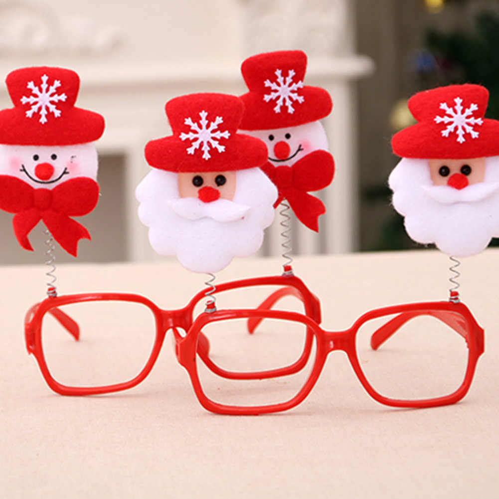 Holiday Novelty Christmas Ornaments Glasses Frames Decor Evening Party Santa Claus Decoration Gift For Home Natal Noel New Year