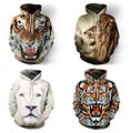 Fashion tiger/lion hooded shirts women/men printed 3d hoodies Casual graphic hoodie funny Sweat shirt tie-dye Sweatshirt tops