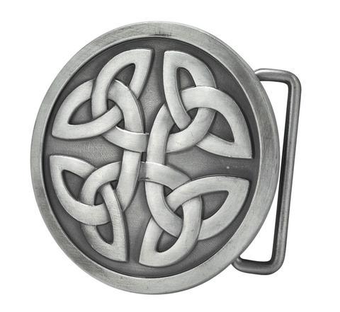 Mens Celtic Cross Knot Mystic Circle Goth Intwine Belt Buckle 154