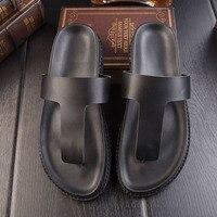 Nouveau hommes de pantoufles d'été mâle dragons mâle en cuir anti-dérapage marée sandales épais Britannique romantique sandales Romaines 230